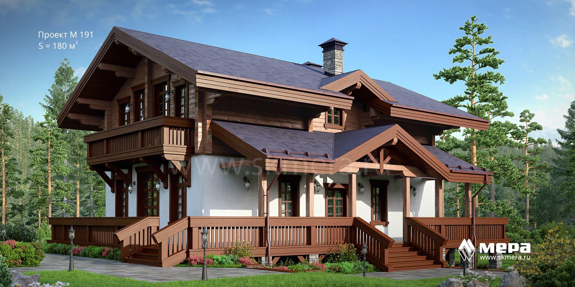 Комбинированный дом по проекту М191