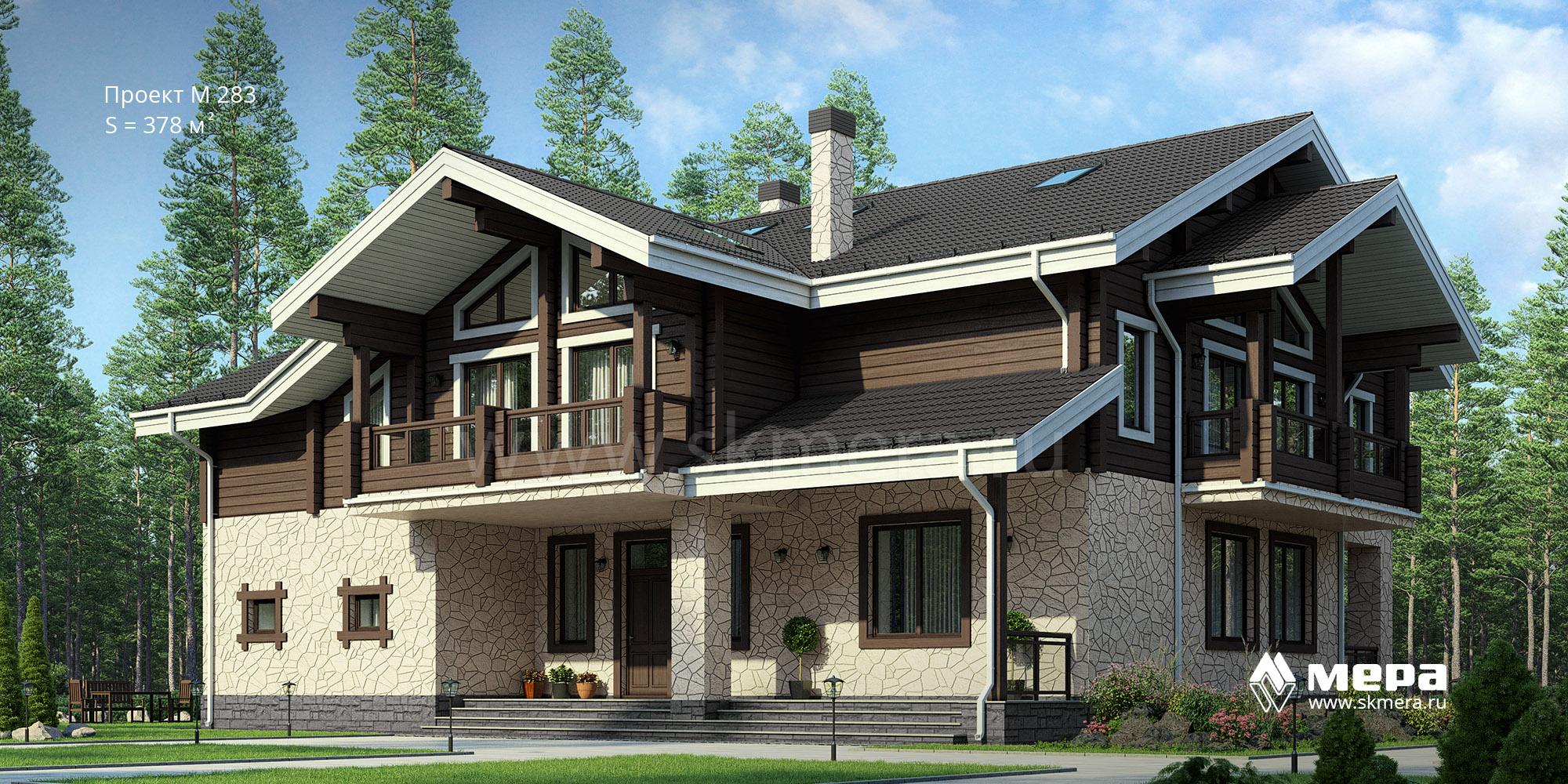 Комбинированный дом по проекту M283