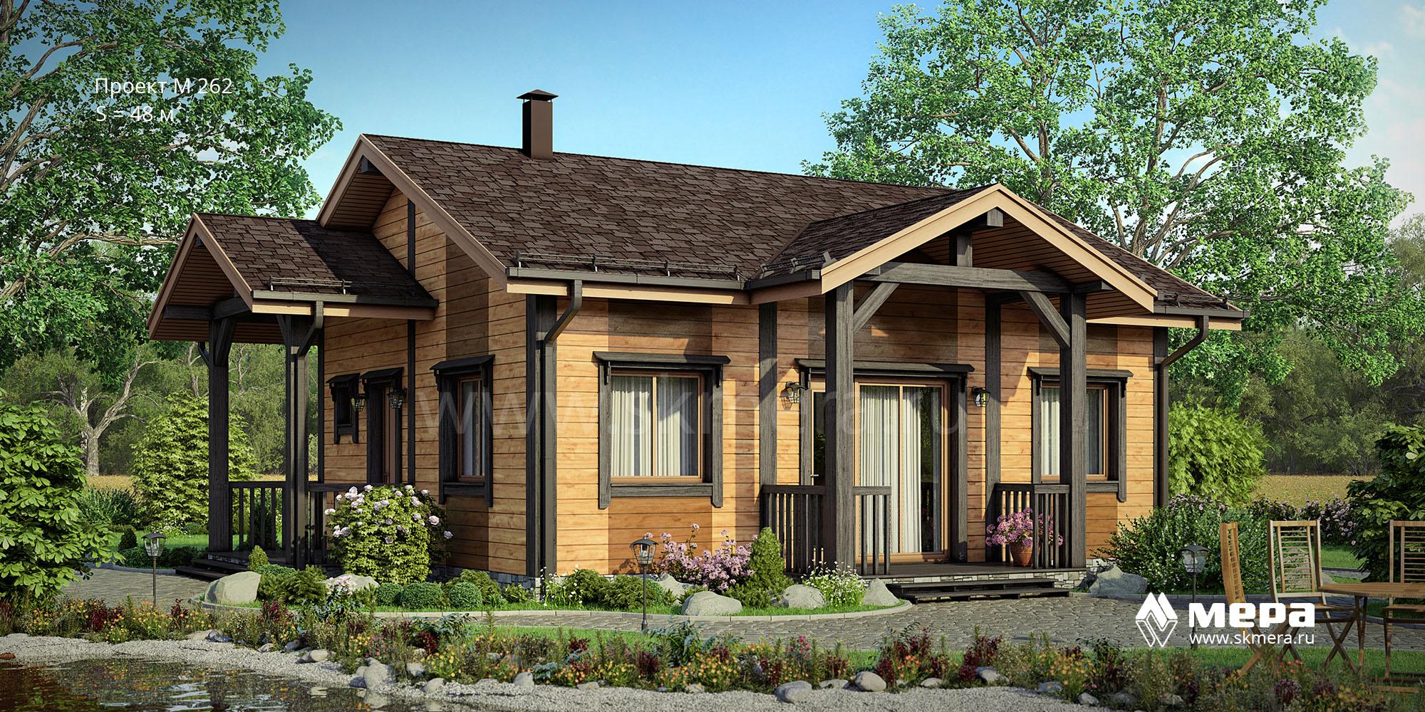 Каркасный дом по проекту M262