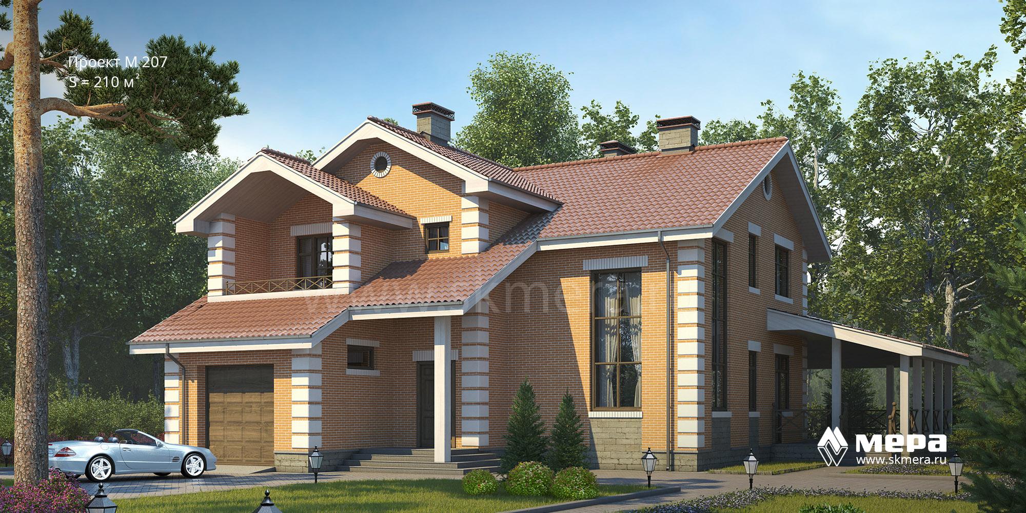 Проект дома из газобетона M207